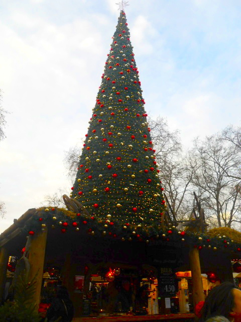 hyde park, winter wonderland, christmas tree