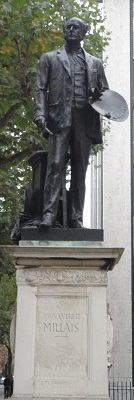 Statue of Millais at the Rear of Tate Britain