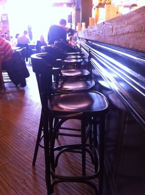 bar stool, The Alice House, Queens Park, London, bar, restaurant, lunch, toddler group