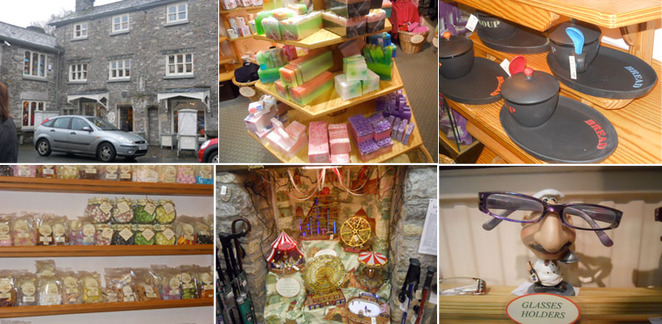 cartmel, gifts, the larch tree, funfair, soap, sweets, glasses holder