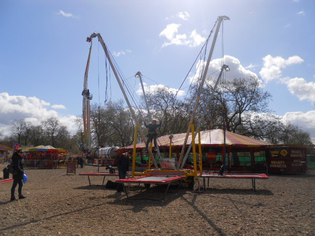 clapham common, theme park, fun fair, bungee trampoline