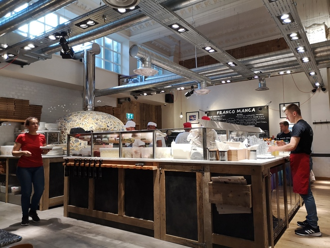 Franco Manca pizzeria, Birmingham, Bennett's hill, restaurant reviews