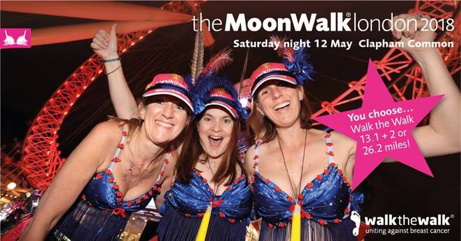 MoonWalk, London, 2018, breast cancer, walk the walk, fundraiser, cancer research