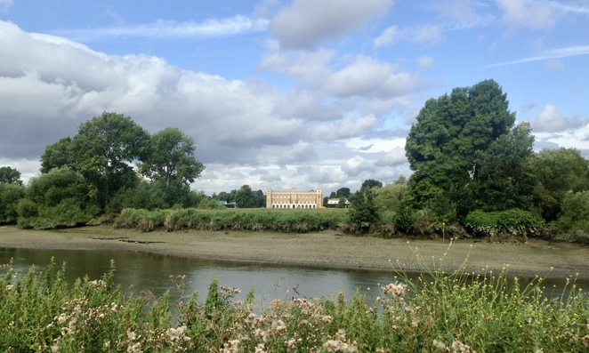 The view across the river to Syon House