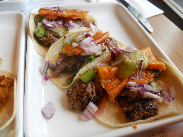 wahaca, wimbledon, mexican market eating, steak, taco