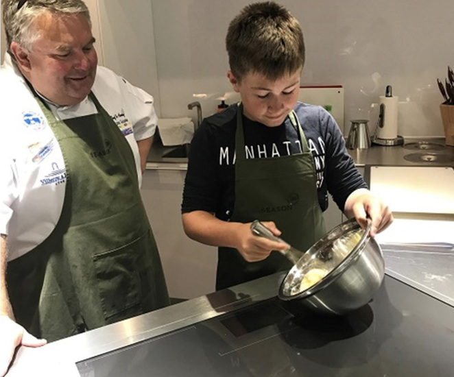 lainston house, season cooking school, kids cooking classes, family cooking lessons, crepe craziness, shrove tuesday, pancake day