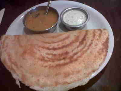 Masala Dhosa at Jyoti's Restaurant