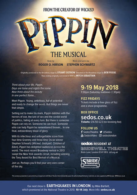 Pippin, Theatre, London, Sedos, Musicals, Music