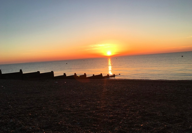 Sunset at Whitstable beach