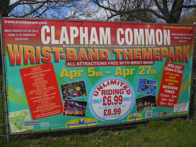clapham common, theme park, fun fair
