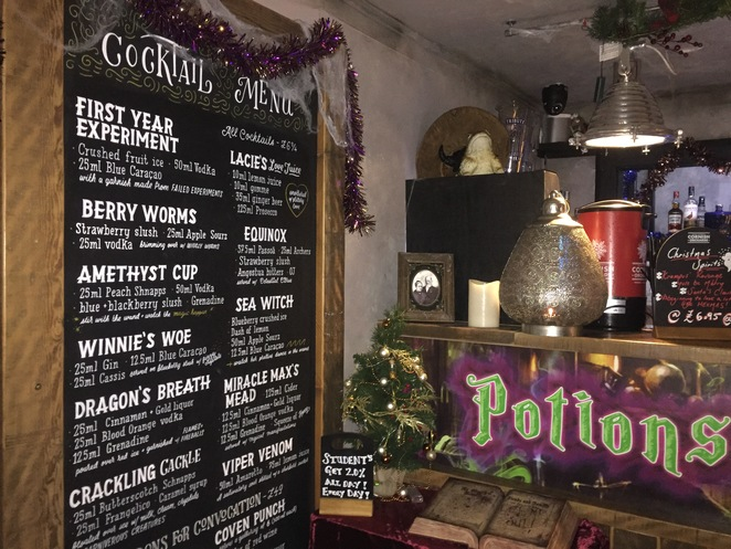 cocktails, harry potter, exeter, magical, themed