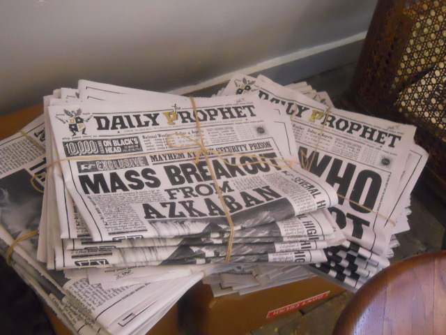 house of minalima, graphic art of harry potter films, daily prophet