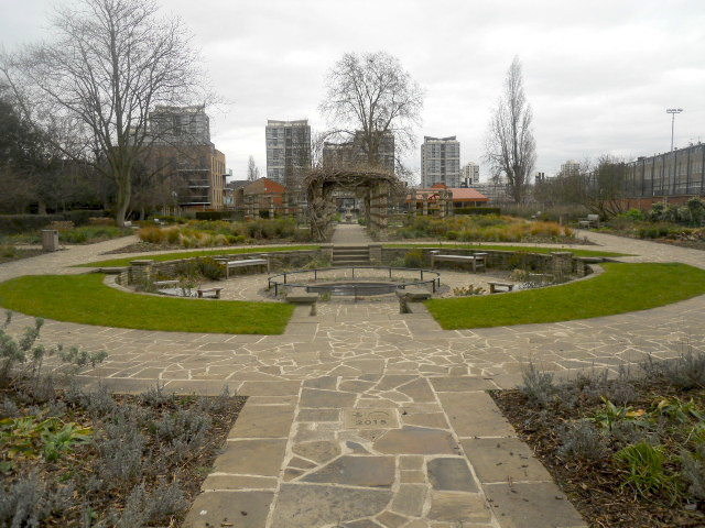 Kennington Park, flower garden