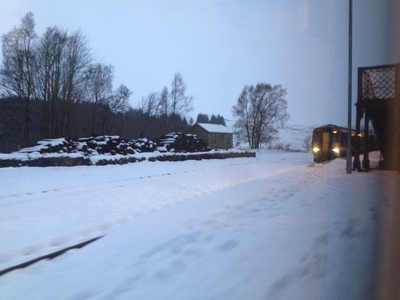 Rannoch station in mid-winter (c) JP Mundy 2012
