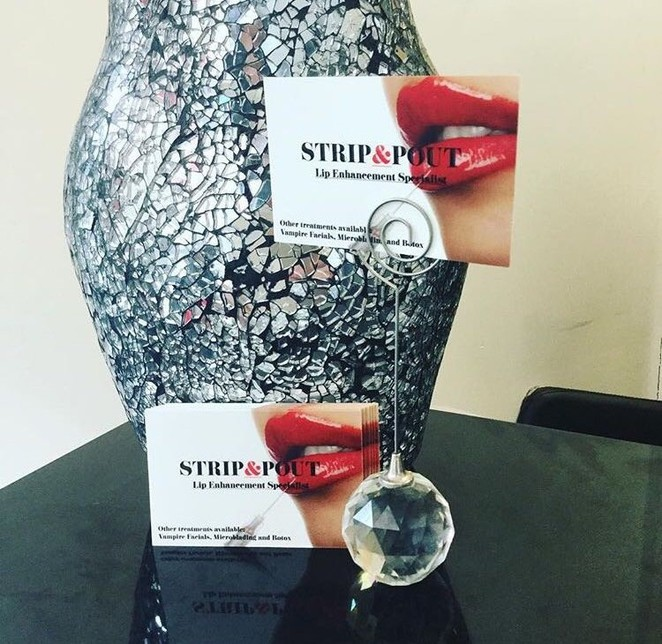 Strip and pout, aesthetic treatments, lip fillers, beauty salon, treatments, beauty,