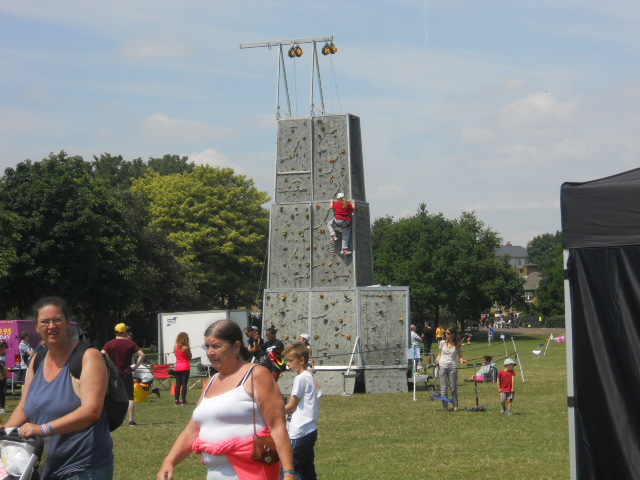 king george's park, get active wandsworth festival, get rhetoric, rock climbing