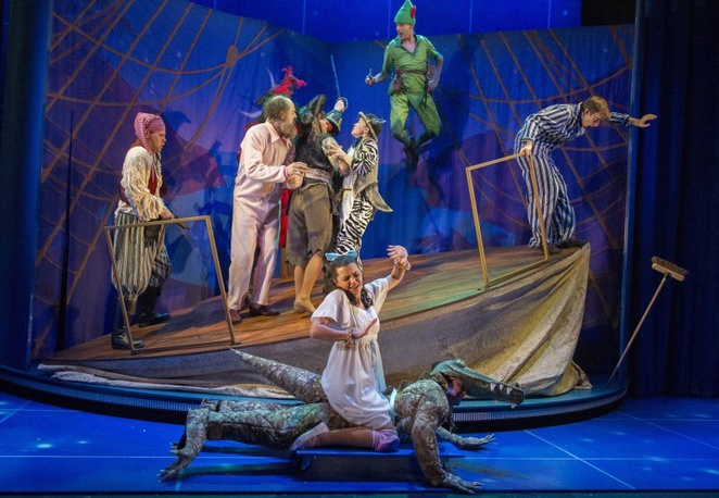 Peter Pan Goes Wrong UK theatre tour review Birmingham Rep