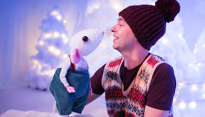 snow mouse, childrens theatre, salisbury arts centre, puppetry, traveling light theatre company, the egg