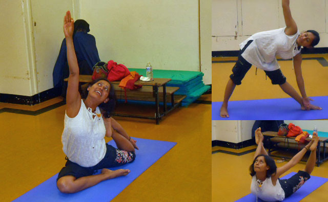 south Mitcham Community Centre, yoga classes, main hall, tree pose