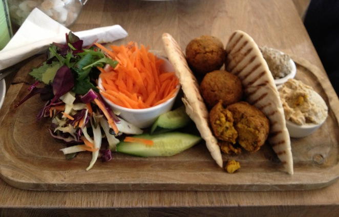 Falafel platter, Hartley Farm Shop and Cafe