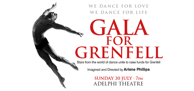 Gala For Grenfell, Adelphi Theatre, Arlene Phillips, Grenfell tower London