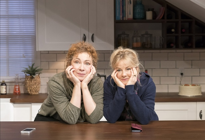 Admissions, Alex Kingston, Sarah Hadland, Josh Harmon play, Malvern theatres