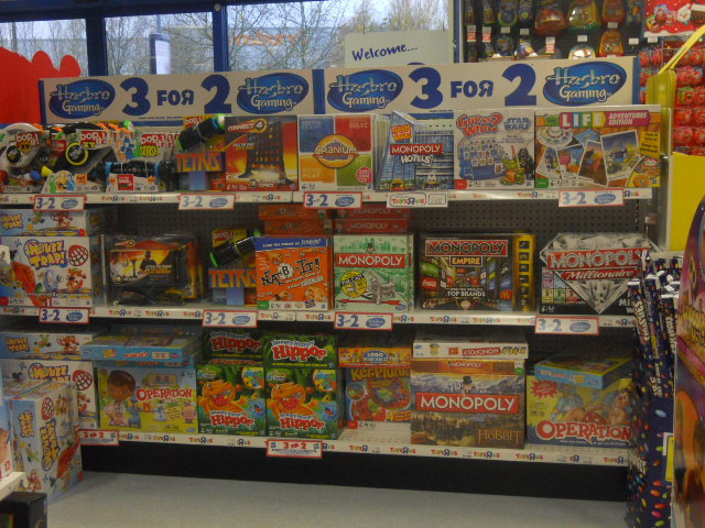 colliers wood, priory retail park, toys r us, board games