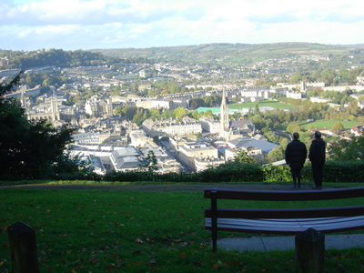 View over central Bath