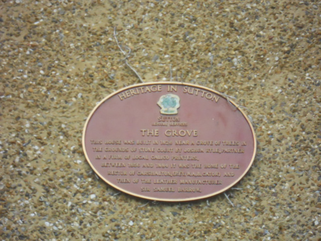 grove park, plaque, stone court house