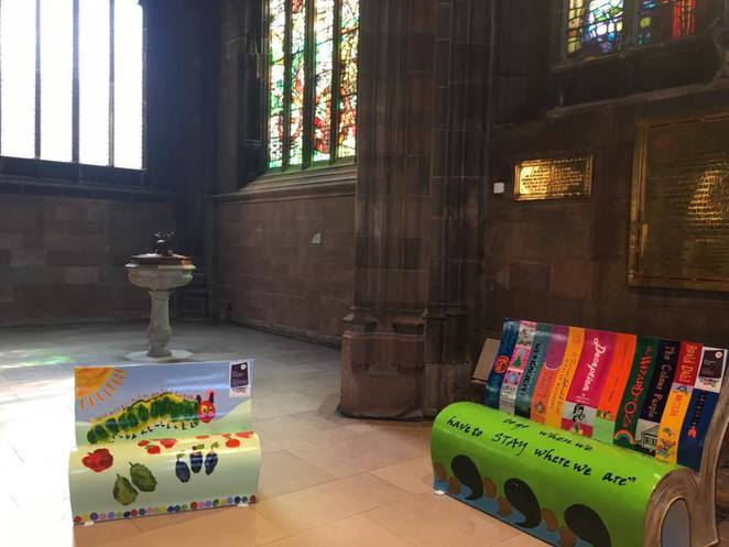 Manchester, Bookbench, Read Manchester, literacy, children, summer, school holidays