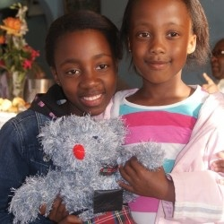 School children, South Africa, be united, teddy