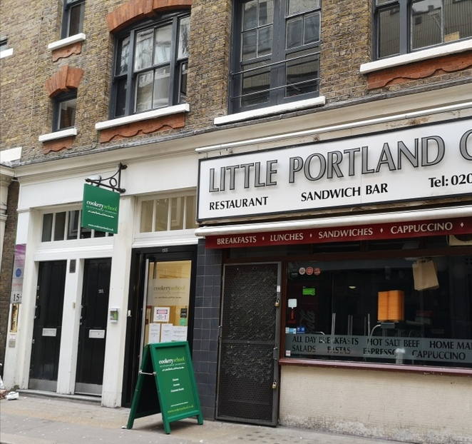 The cookery school at little Portland Street, review of baking class, cookery classes in London