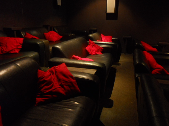 the exhibit, balham, cinema, sofa
