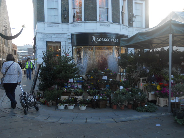 kingston, market, christmas trees, flower stalls