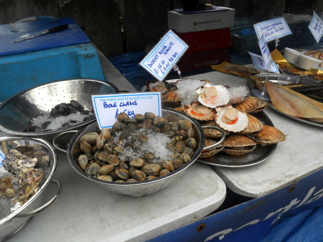 oval farmers' market, the portland scallop co