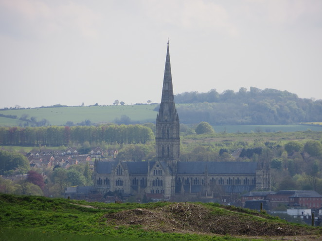 salisbury, cathedral, old, sarum, castle