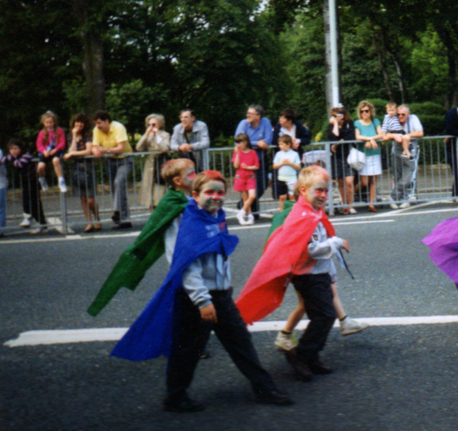 Hero Turtles on Parade in Cookson Festival early 1990s