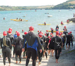 padstow rock, swimming, marie curie