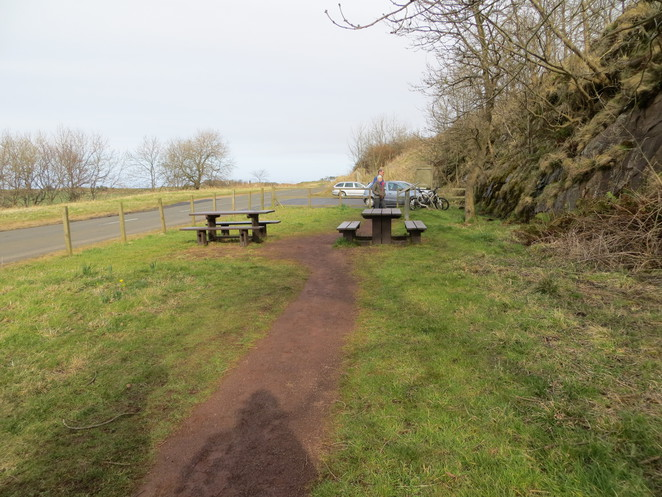 picnic, parking, traprain law, edinburgh
