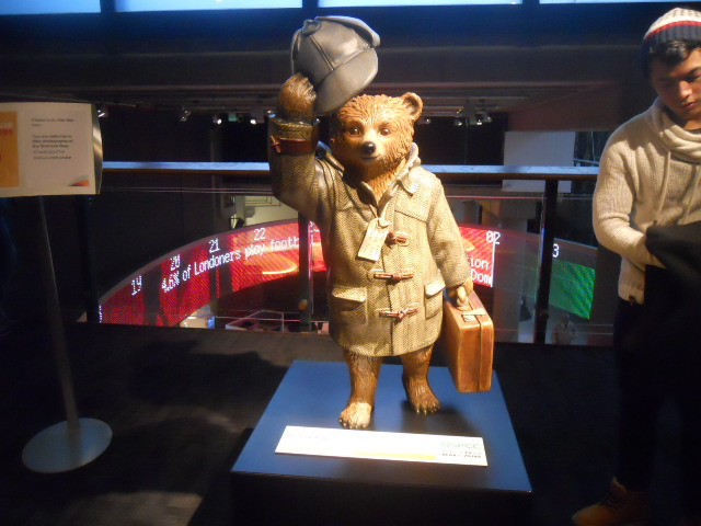 a bear called paddington, museum of london, paddington trail, sherlock bear
