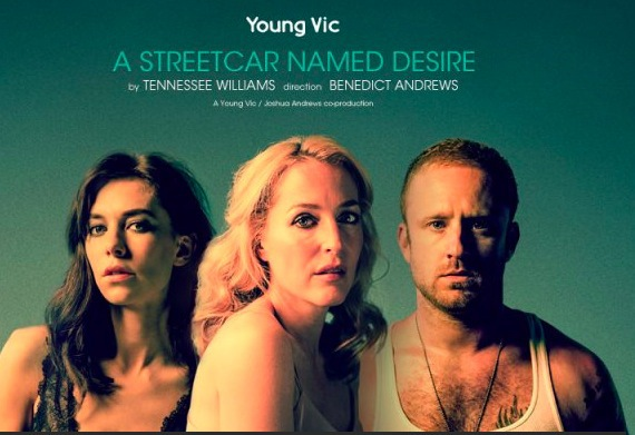 a street car named desire, gillian anderson, young vic, national theatre