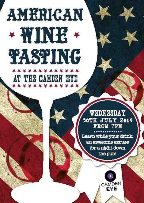 American wine tasting, the camden eye