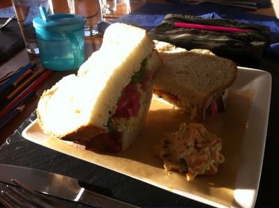 homemade bloomer, sandwich, bridgeview station restaurant, lunch, white cheddar