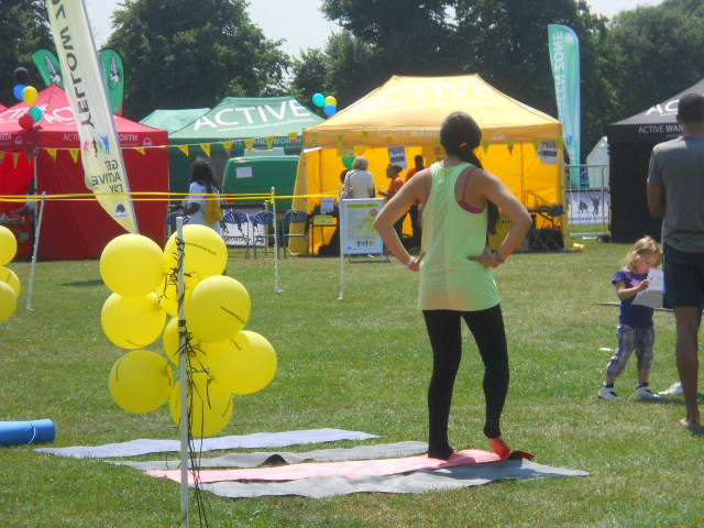 king george's park, get active wandsworth festival, running, pilate, yoga, aerobics