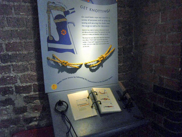 london canal museum, knotting