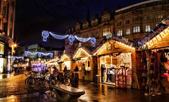 Christmas Market, Christmas, Market, Stalls, Shopping, Sheffield