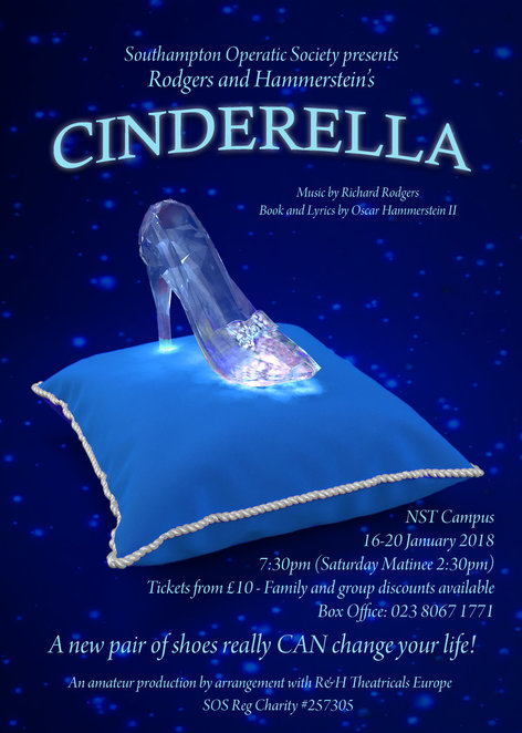 cinderella, rogers and hammerstein, southampton operatic society, nuffield southampton theatre