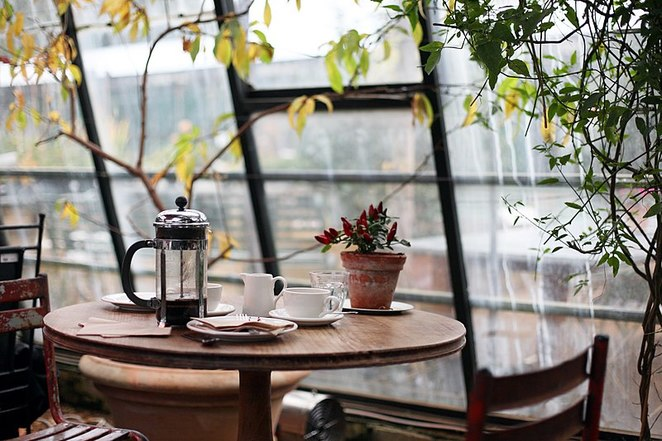 Petersham Nurseries, Greenhouse, Coffee, Tea