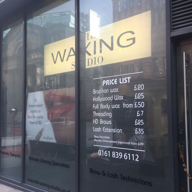 Beauty salon, The waxing studio, beauty, Manchester salon