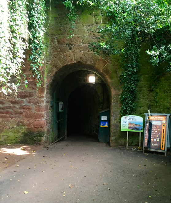 tunnel entrance,smugglers tunnel,visit england,family beaches